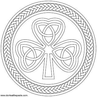 pinkimberly tacey on stpaddy day images  shamrock printable celtic coloring coloring pages