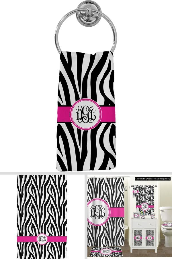 Zebra Print Hand Towel - Full Print (Personalized) in 2020 ...