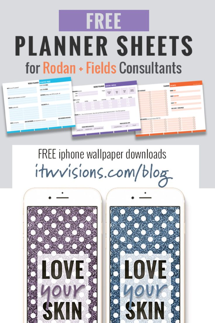 Get organized and hold yourself accountable with these great free downloads from itwvisions.com, a digital design company that is passionate about using quality imagery to promote brand and grow your business network. iPhone wallpaper for Rodan and Fields consultants; planning pages; planner sheets; checklists; business checklist; social media checklist; event checklist, bbl checklist, big business launch checklist.