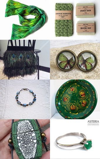 Green collection by Elena on Etsy--Pinned with TreasuryPin.com