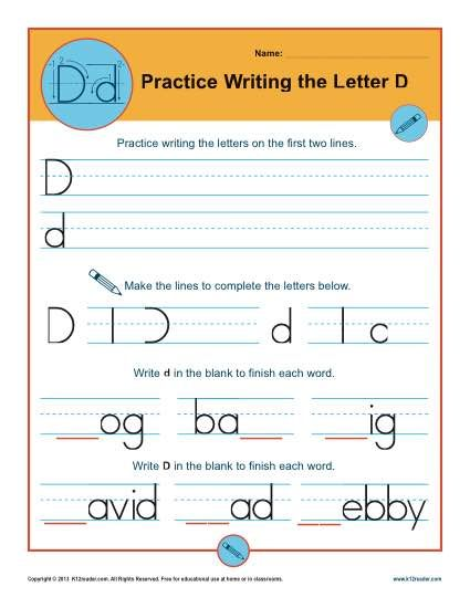 k12 free worksheets letter d worksheets k12 worksheets 992
