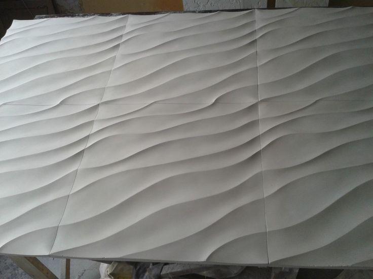 3D панель для стен из гипса Дюна
