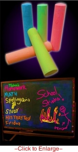 Glow Black Light Reactive Neon Chalk (Set of 5)