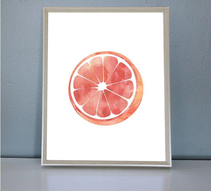 Watercolour Orange - Wall/Art Print 8X10, 11X14 by PrettyPaperPlaceShop on Etsy
