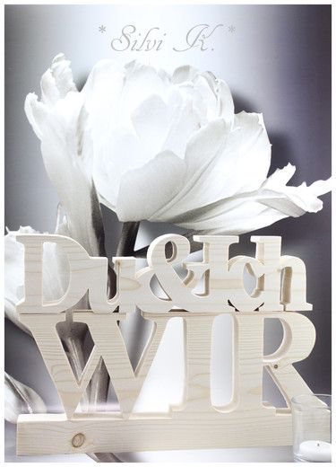 erhältlich hier: http://de.dawanda.com/product/103011203-duich-wir-2tlgset-buchstaben-aus-holz-letters Handarbeit aus Holz, Hochzeitsgeschenk, Hochzeit, Valentinstag, Schriftzug, Buchstaben, Letters, Du & Ich, Wir, Silvi K.,