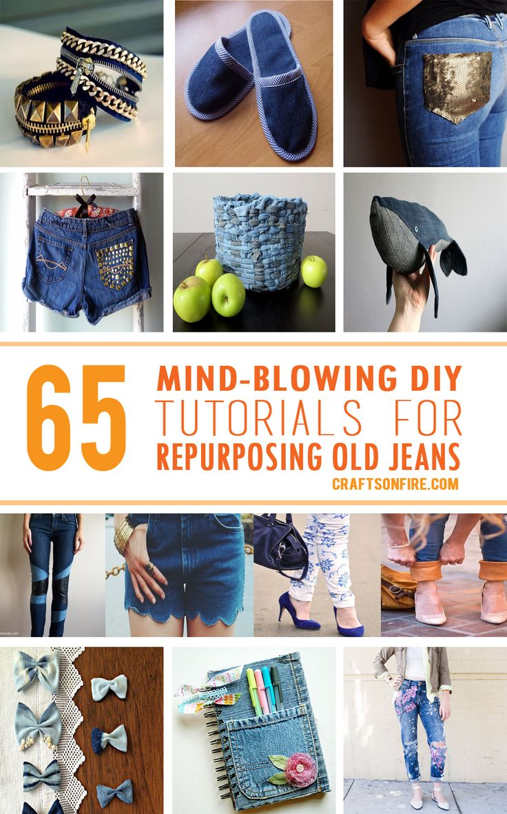 Some really great tutorials and ideas for repurposing olld jeans.