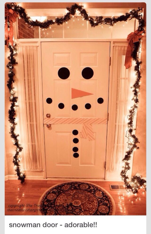 Snowman Door: Kids would love this!