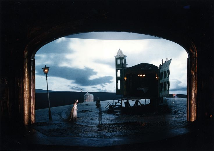 An Inspector Calls, with set, costume and lighting design by Ian MacNeil and Rick Fisher, opened at the National Theatre in 1992. JB Priestley's play was directed by Stephen Daldry. MacNeil said: 'We used the idea that a performance can exist in three time periods simultaneously'