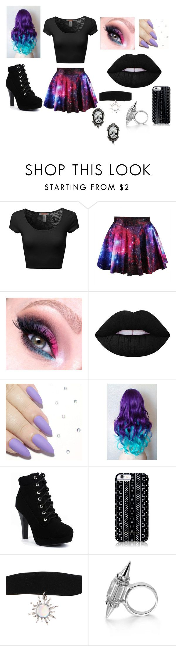 """Galaxy"" by kpoptrash2233 on Polyvore featuring Lime Crime, Savannah Hayes and Fad Treasures"