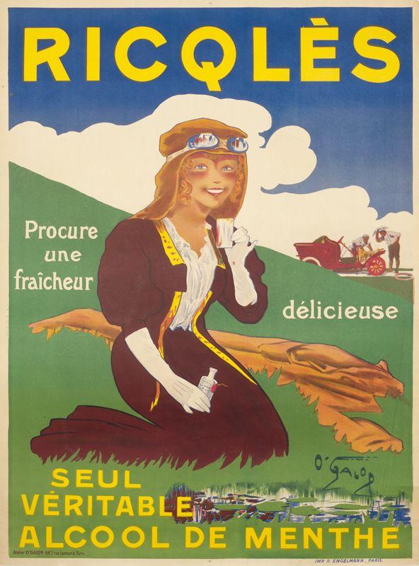 Ricqles Elixir by O'Galop (Marius Rossilon) |  Shop original vintage #posters online: www.internationalposter.com.