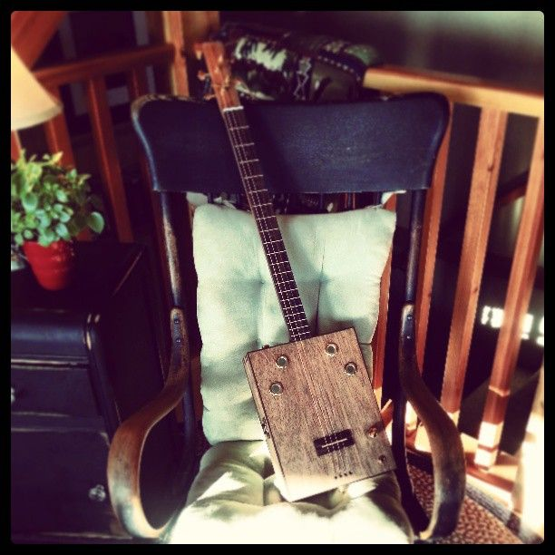 4 string Box Guitar - 2nd one owned by Candace Copley
