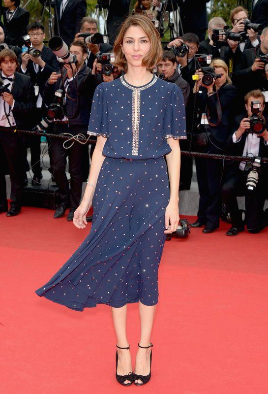 Sofia Coppola en robe Michael Kors printemps-été 2014 http://www.vogue.fr/sorties/on-y-etait/diaporama/les-plus-belles-robes-du-festival-de-cannes-2014/18787/image/1002077