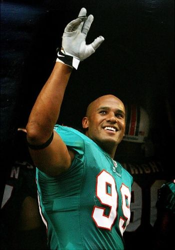 Jason Taylor drafted by the Miami Dolphins and retired a Miami Dolphin!