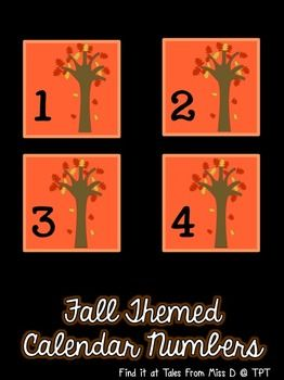 Decorate your calendar with these cute, Fall themed cards!  These cards include numbers 1 to 31.  Other ideas for use; * Labelling bag hooks...