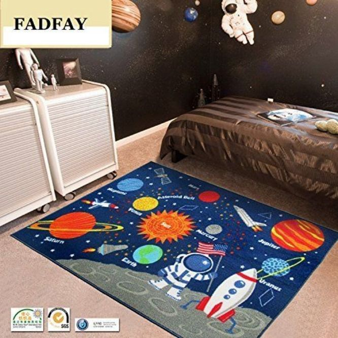 Outer Space Kids Rug Cute Kids Room Carpet 39 X52