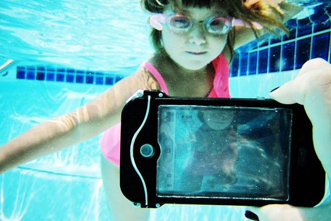 The iPhone Scuba Suit ($60): A waterproof case for your most used camera – your phone. Use it in the pool, at the beach or on a water slide!