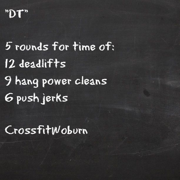 WOD DT Crossfit...just did this one...punishing.  The RX weight for girls today was 105...yea no..I did 55 pounds...but did it in 11:05
