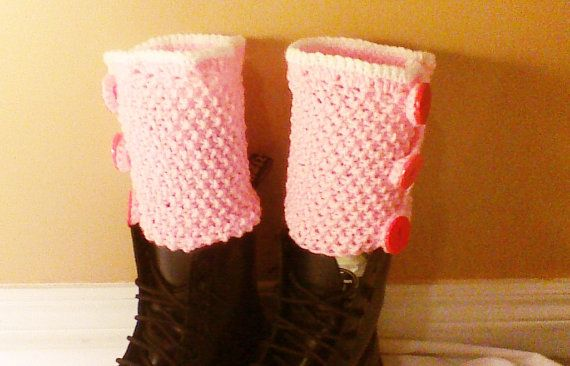 Pink Hand Knitted Leg Warmers/Boot Cuffs/Boot by HandmadeTrend, $22.00