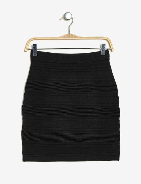 jupe tube texturée noire