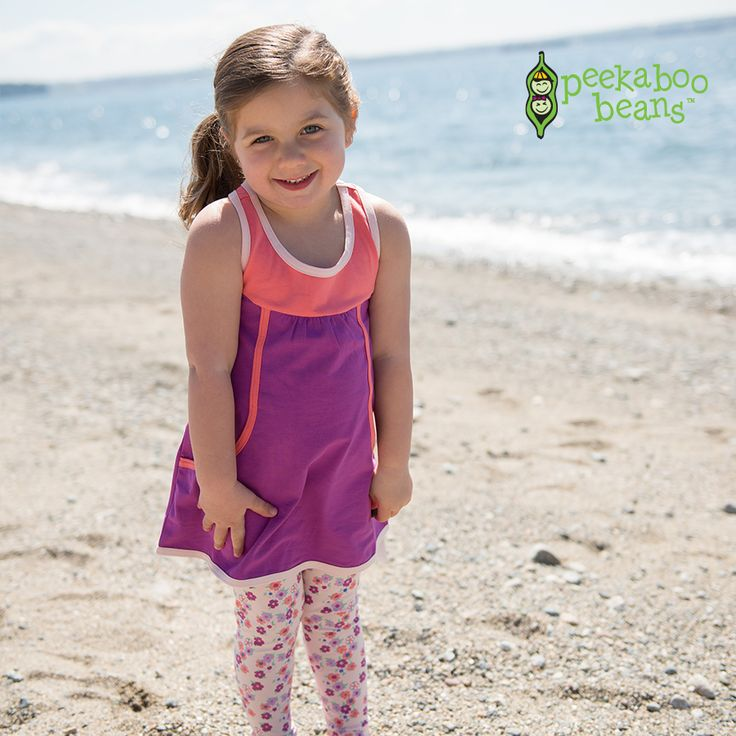 Summer style: easy, breezy and perfect for the beach! | Girls Summer Collection | www.peekaboobeans.com