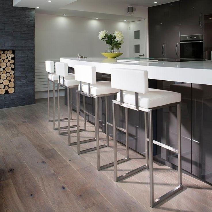 Set of 4 luxury white kitchen breakfast bar stool/seat ... on Modern:0Bjn4Cem9Be= Kitchen Counter  id=66747