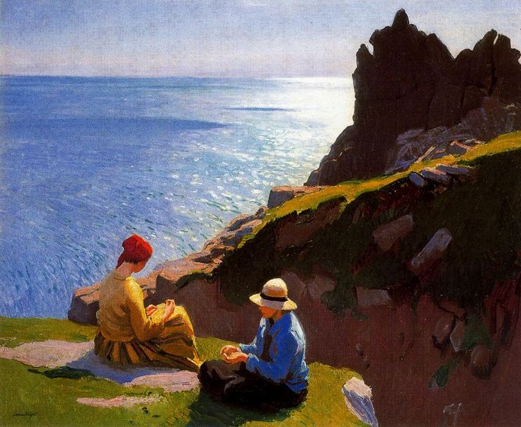 Laura Knight (English, 1877-1970) - On the Cliffs - 1917