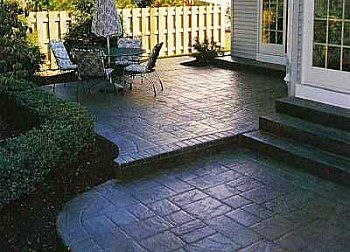 stamped concrete patio ideas on pinterest fire pits concrete steps