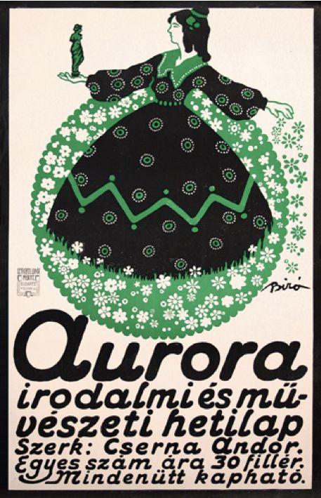 By Milhály Biró (1886-1948), 1911, Aurora (newspaper), Lengyl Lipot Müint., Budapest. (Hungarian)