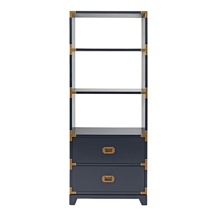 Campaign Bookcase (Midnight Blue)   The Land of Nod