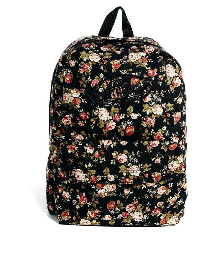 Vans Floral Backpack ♡