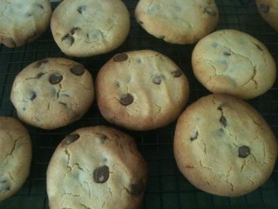 Cafe Choc Chip Cookies recipe