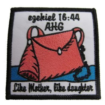 AHG Activity Patches: This cute patch is great to pass out to all girls that participate in a mother daughter event.