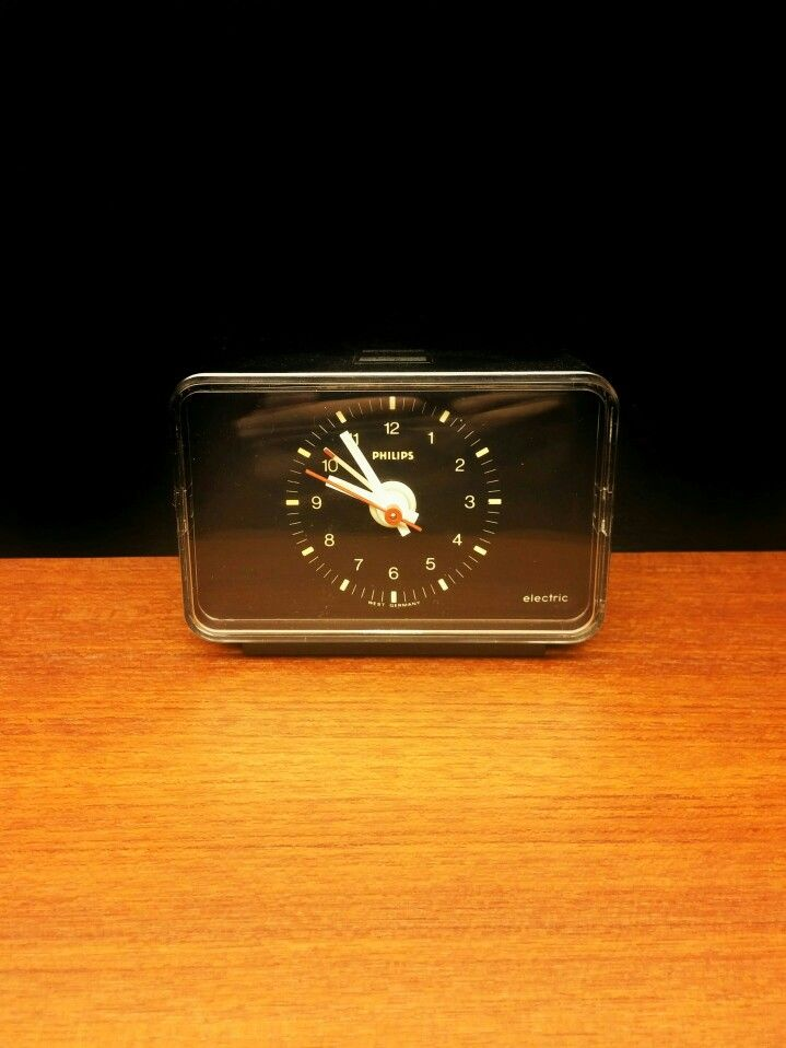 Philips electric alarm clock. made in west germany.