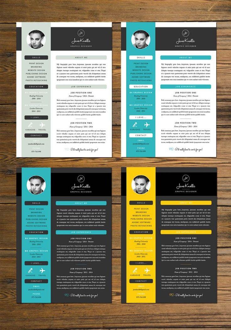 29 best Resume Design images on Pinterest Creative resume design - beautiful resume designs
