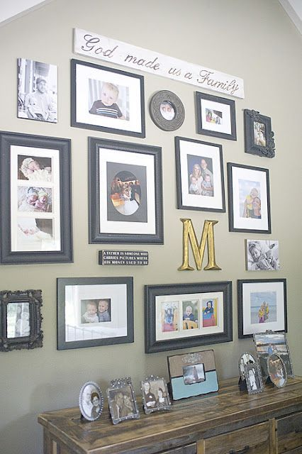 cute picture collage--I love the Saying above the collage..good for blended or adopted families!