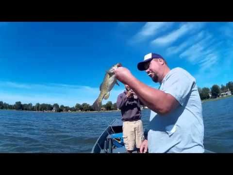 Smallmouth Bass Caught on a Perch Swimbait