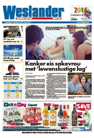 Weslander Magazine. Afrikaans. News. Local.