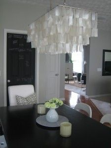 West Elm Rectangular Capiz Chandelier I Love This Probably Will Not Ever