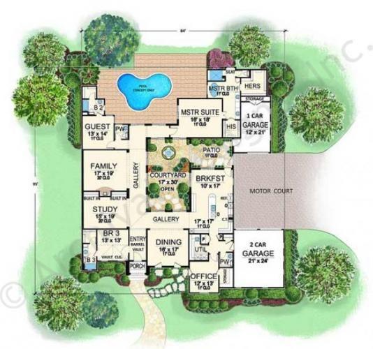 44 best lennar home ideas images on pinterest floor for Italian house plans with courtyard