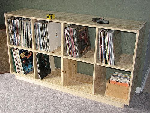 Record Shelf (fix) | So... I did not use the dowels and glue… | Flickr