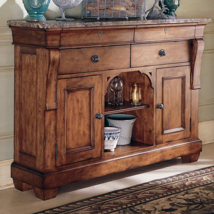 Tuscano Sideboard Server By Kincaid Furniture | Solid Wooden Drawer  Sideboard Buffet Server Table