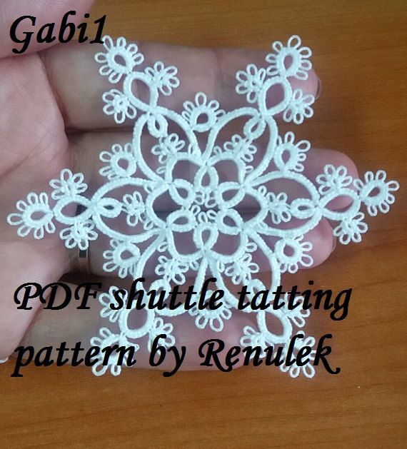 PDF Original Shuttle Tatting Pattern. Snowflake. Star. by Renulek                                                                                                                                                                                 More