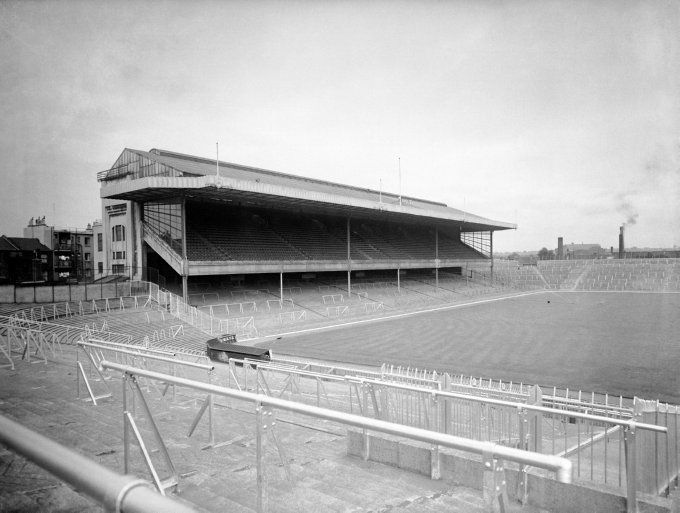 The East Stand, as seen from inside the stadium in 1950