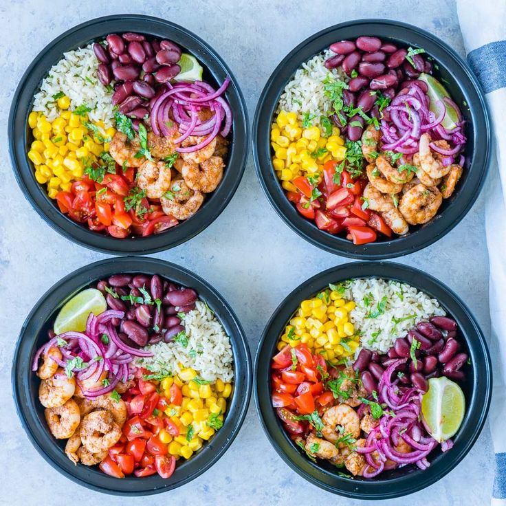 Shrimp Burrito Meal Prep Bowls are Perfect For Clean Eating Meal Prep!
