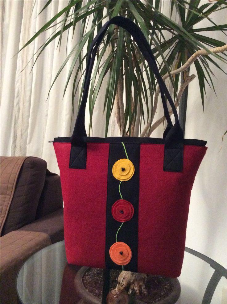 Hand made felt bag
