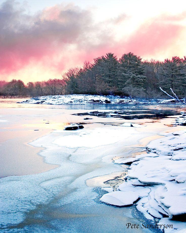 The Wisconsin River near Stevens Point, Wisconsin.
