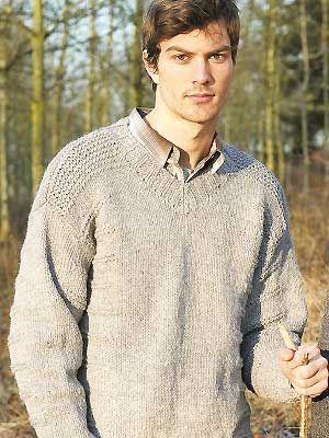 V Neck Knitting Pattern : mens V-neck jumper to knit - Knit a mens V-neck sweater: free knitt...