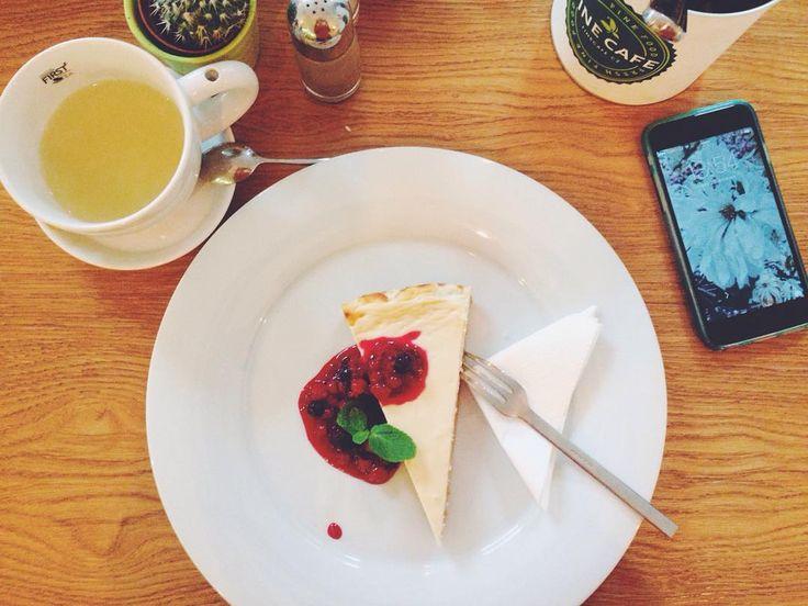 """Found a nice cafe in Vyšehrad. #Katia_in_Prague"""