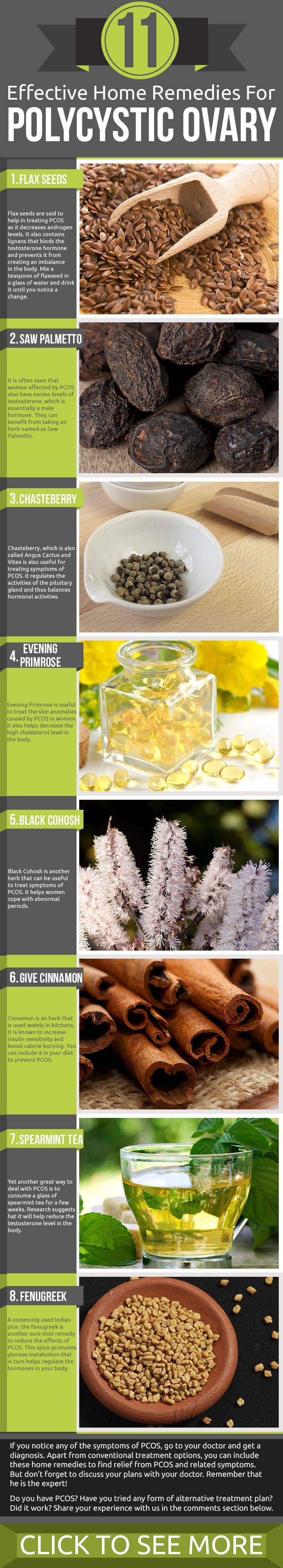 "Effective Home Remedies for PCOS! Infographic: ""As women age, various genetic and ..."" Read more here!"