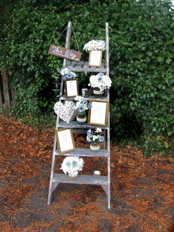 rustic ladder table plan wedding prop hire rustic. Black Bedroom Furniture Sets. Home Design Ideas
